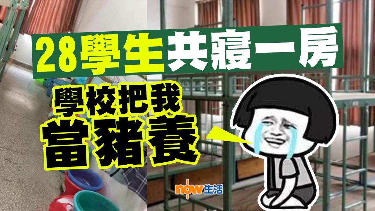 【監獄定宿舍?】江西學校28人共睡一房 學生:被當豬養