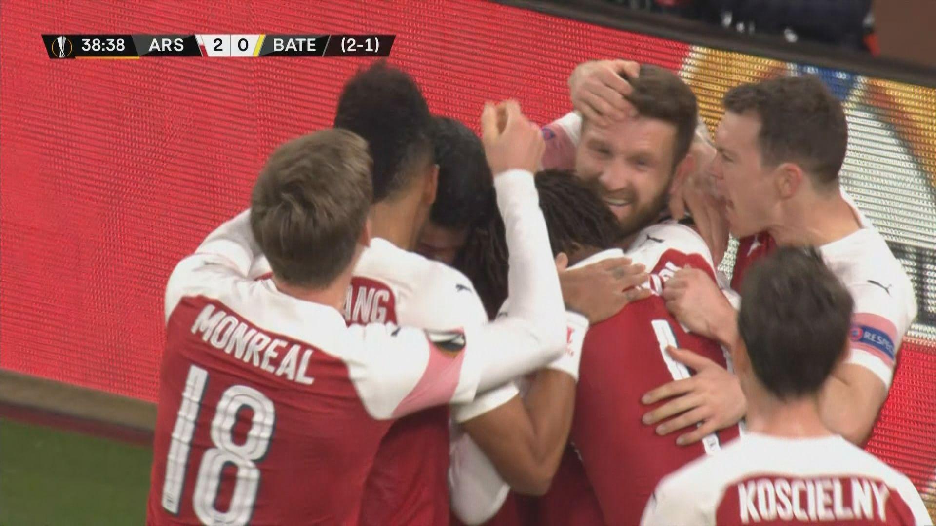 歐霸盃 阿仙奴總比數3:1反勝巴迪