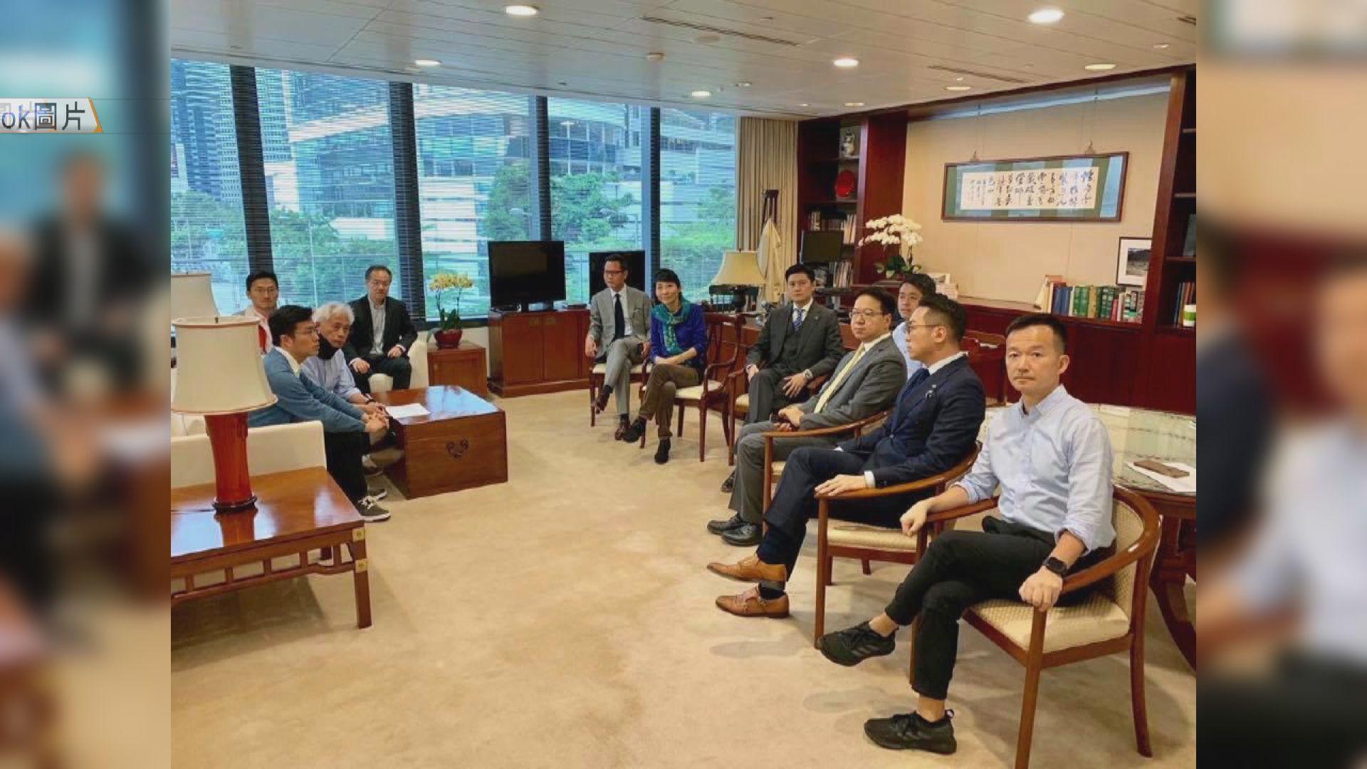 民主派議員到陳維安辦公室要求撤回書面通告