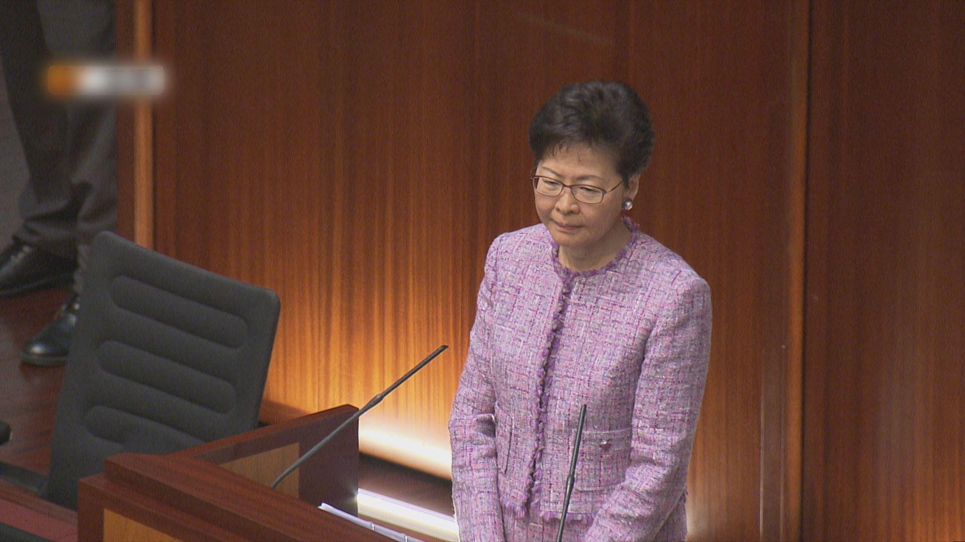 林鄭:逃犯條例97年通過時非怕內地法制 論述屬「廢話」