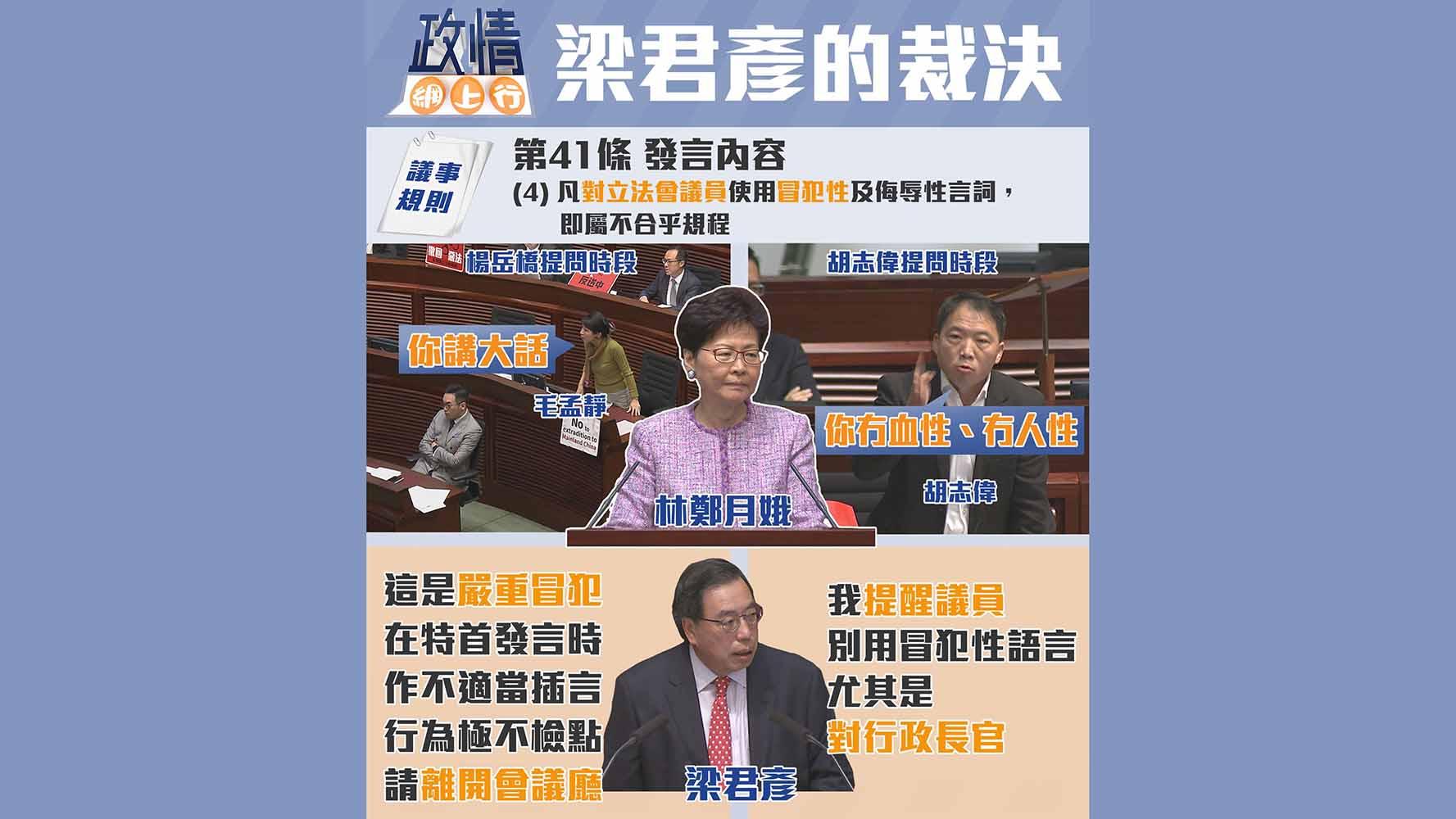 【政情網上行】梁君彥的裁決