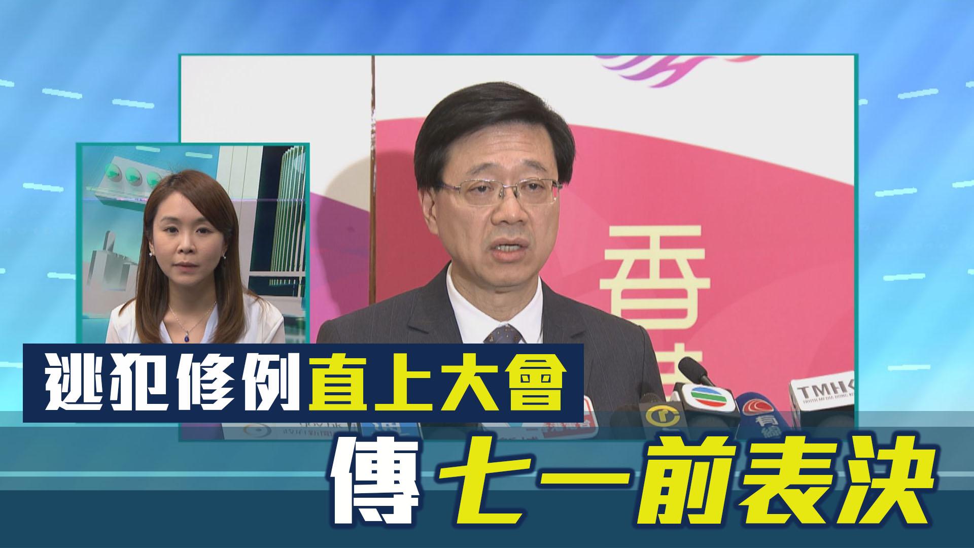 【政情】逃犯修例直上大會 傳七一前表決
