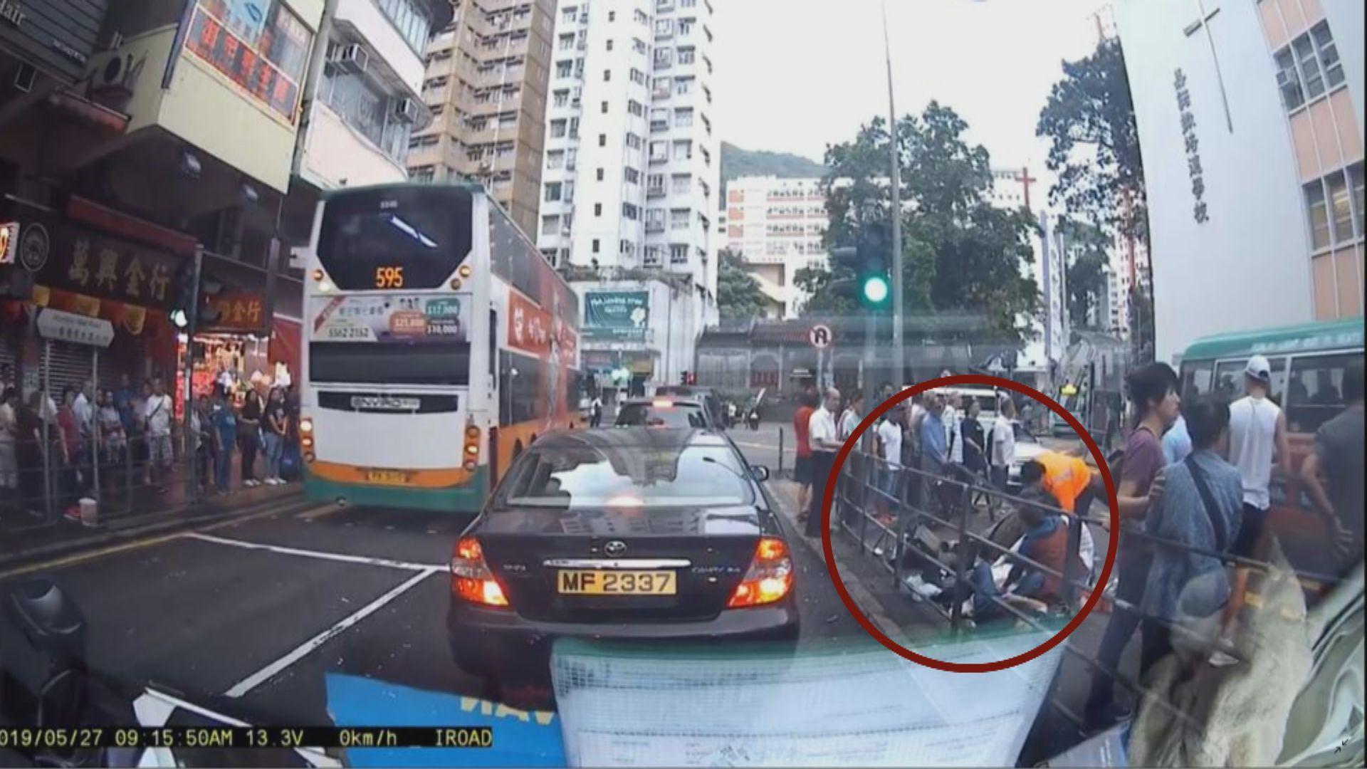 【最新‧有圖】香港仔有的士剷上行人路至少九傷