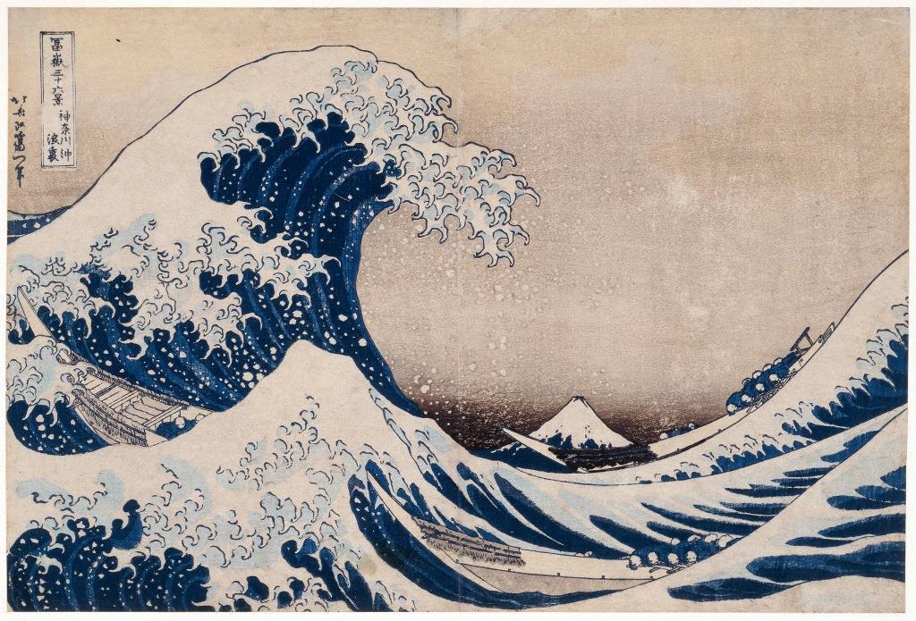 著名的浮世繪《神奈川沖浪裏》