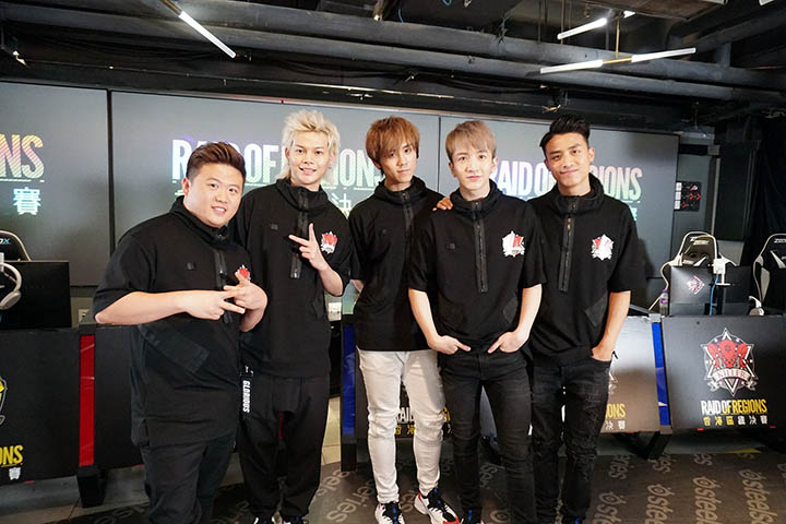 (左起)肥仔、保錡、姜濤、Anson Lo、Anson Kong