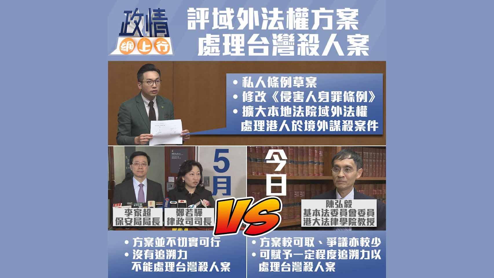 【政情網上行】評域外法權方案 處理台灣殺人案