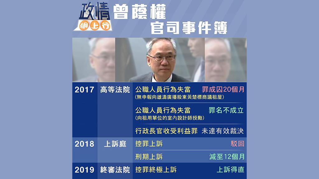 【政情網上行】曾蔭權官司事件簿