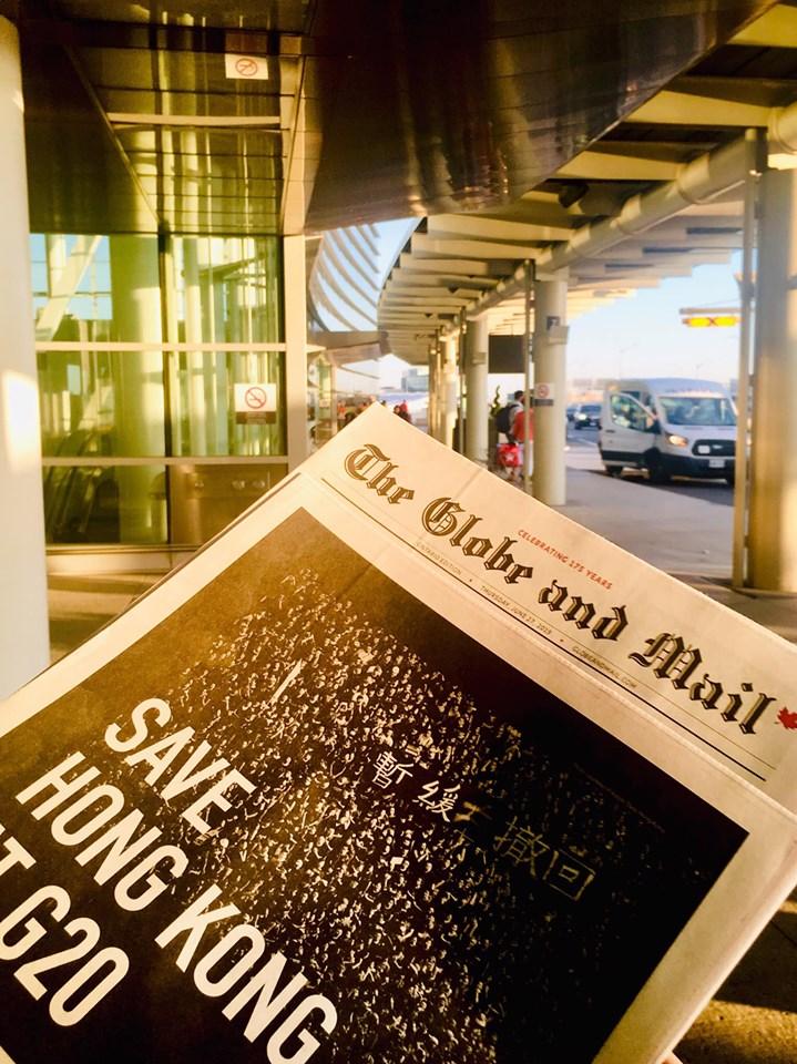 加拿大《環球郵報》The Globe and Mail (網民Nathan-Davis Koo圖片)