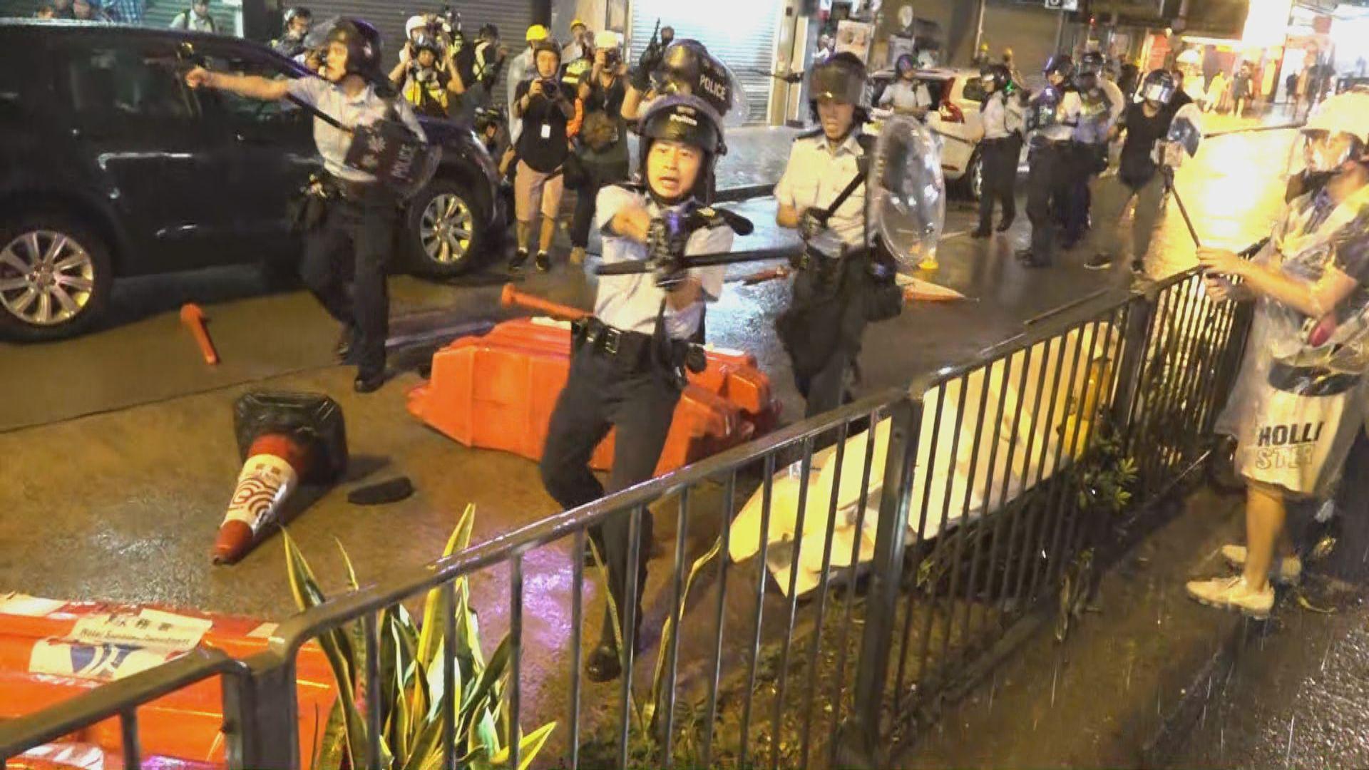 荃葵青遊行演變成警民衝突 警方曾開槍示警