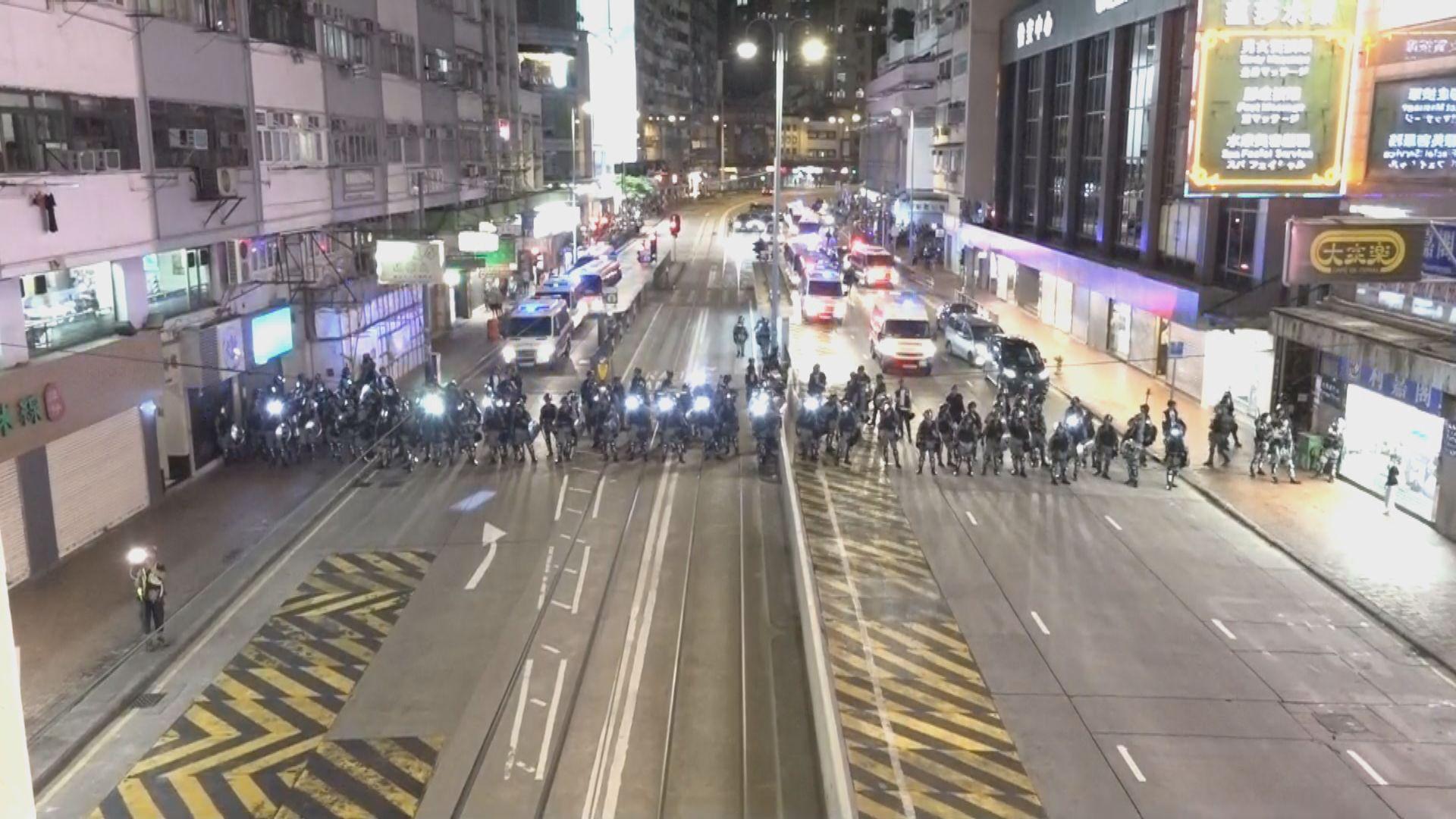 【不斷更新】入夜後警方在北角一帶戒備