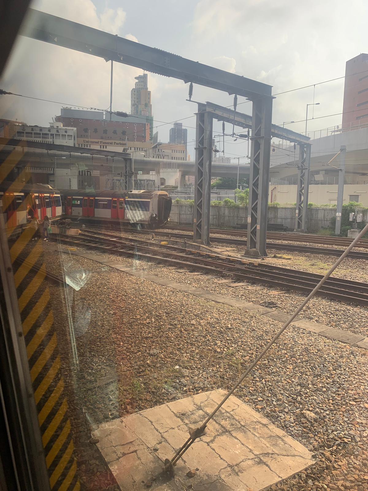 【突發‧多圖】紅磡站有列車出軌
