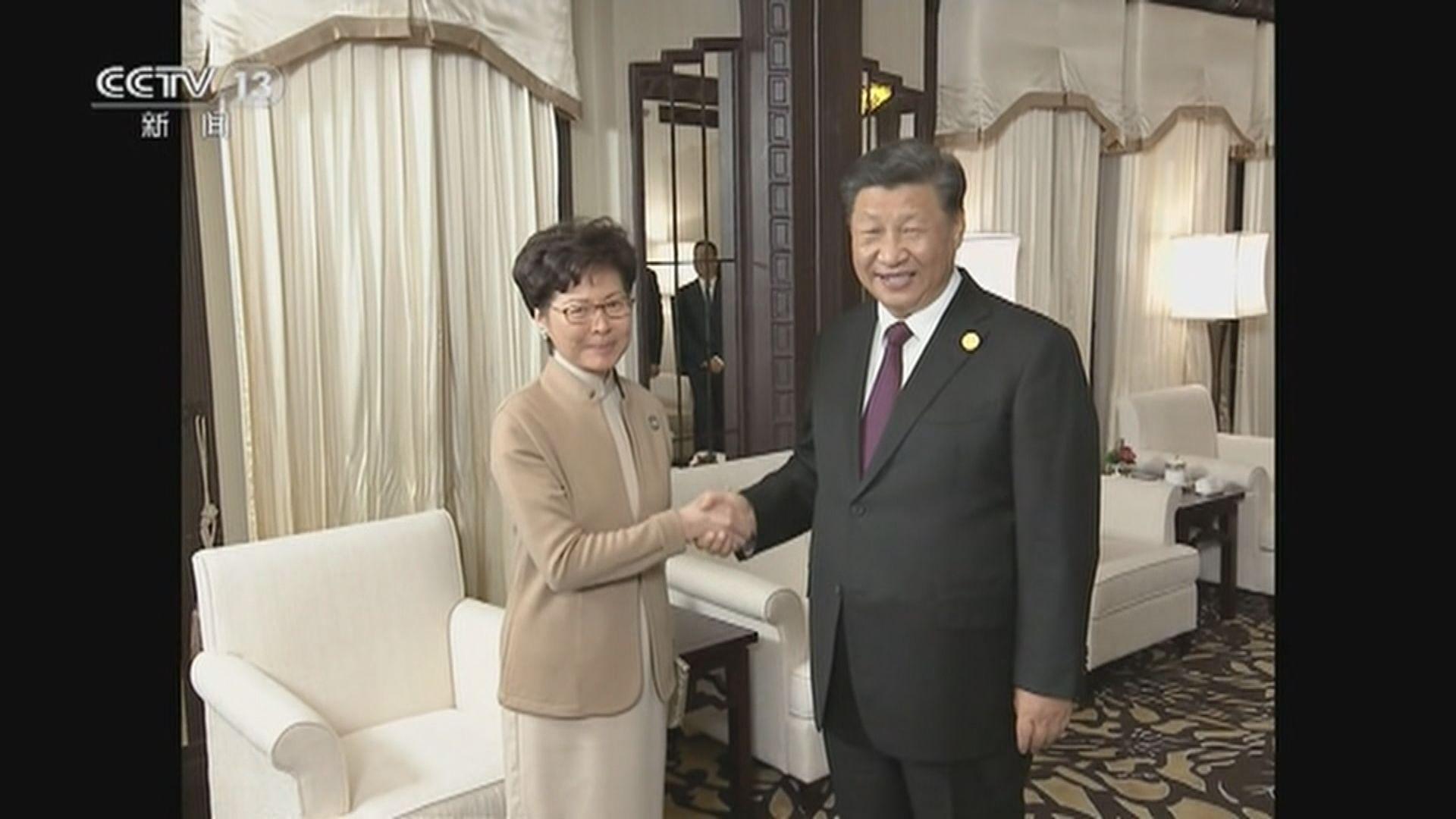 習近平上海會見林鄭月娥