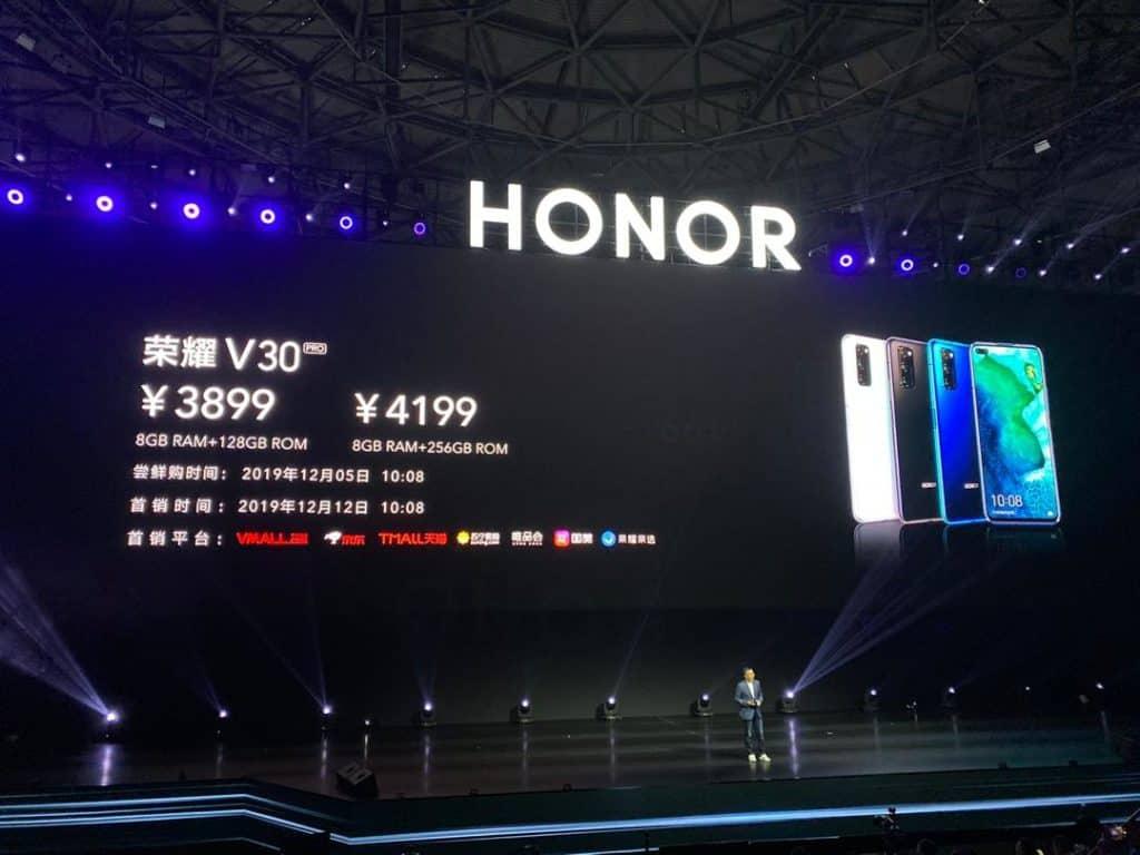 Kirin 990處理器開價$3,667起,Honor V30系列正式發布!