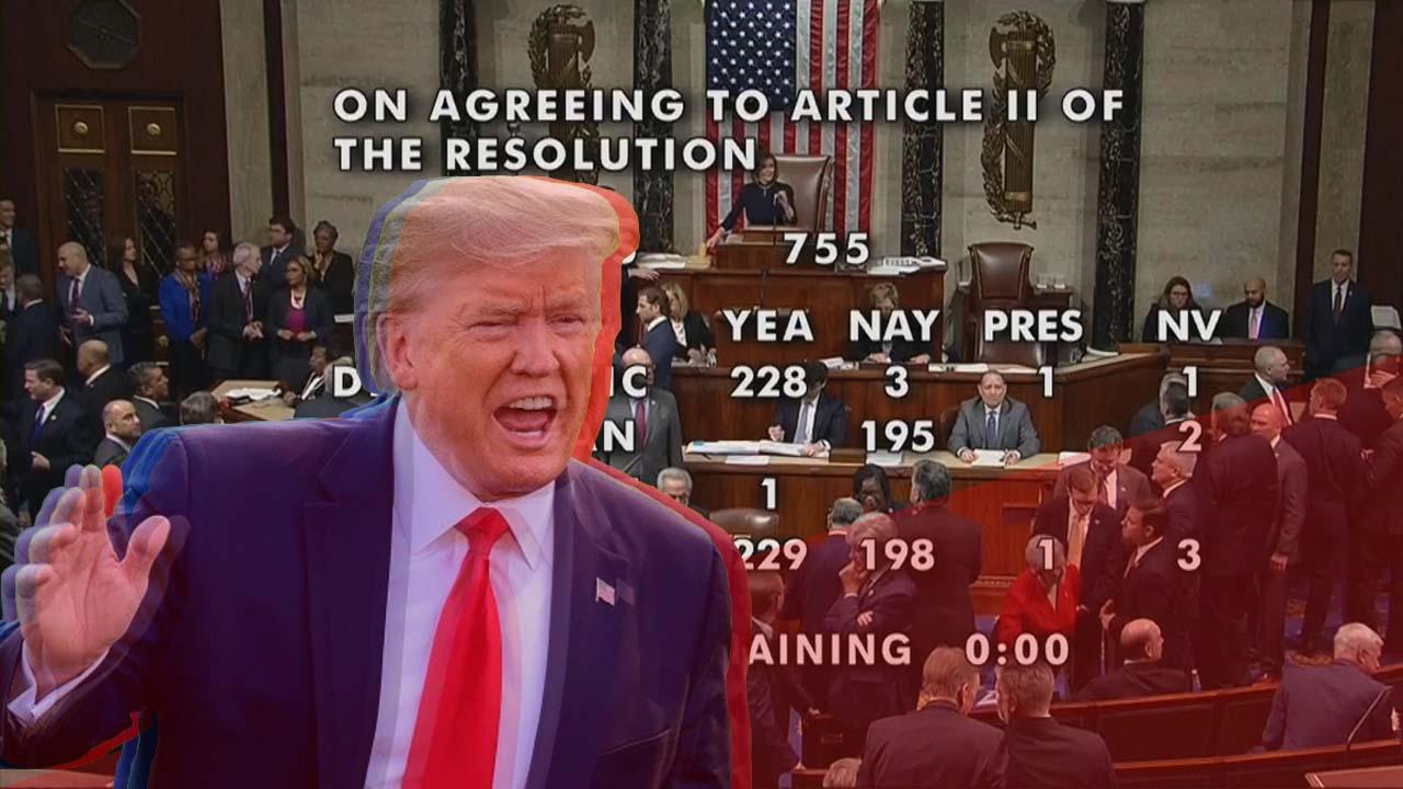 特朗普成史上第三位遭彈劾美國總統