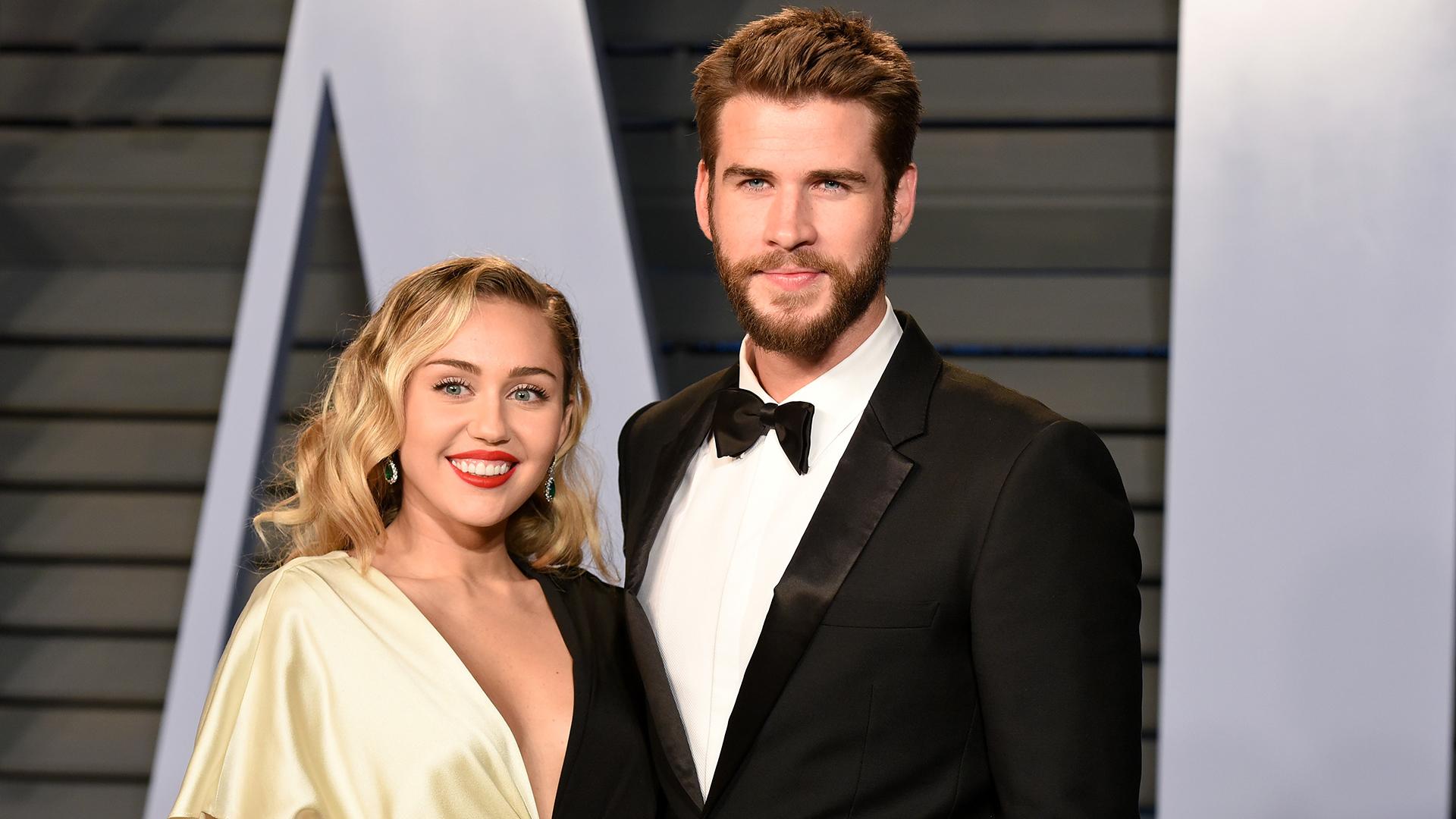拍拖多年的Liam和Miley於上年12月結婚