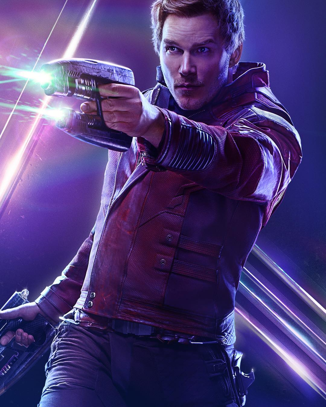 Chris Pratt 於 Marvel系列電影中飾演「星爵」