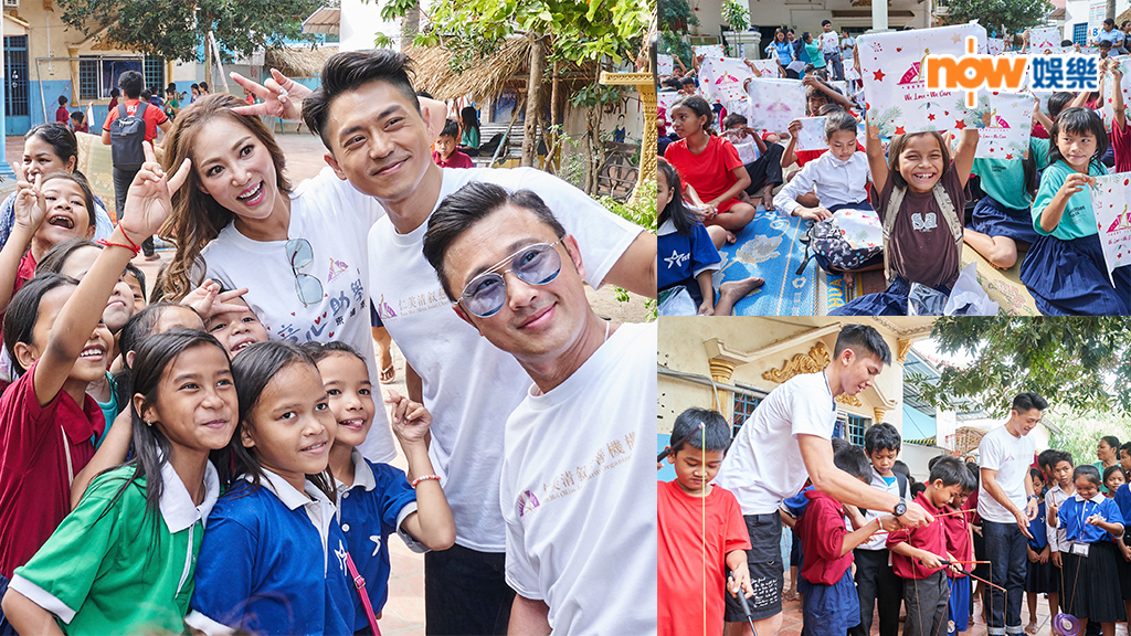 森美柬埔寨助學收粉絲 獲小女孩送自畫像