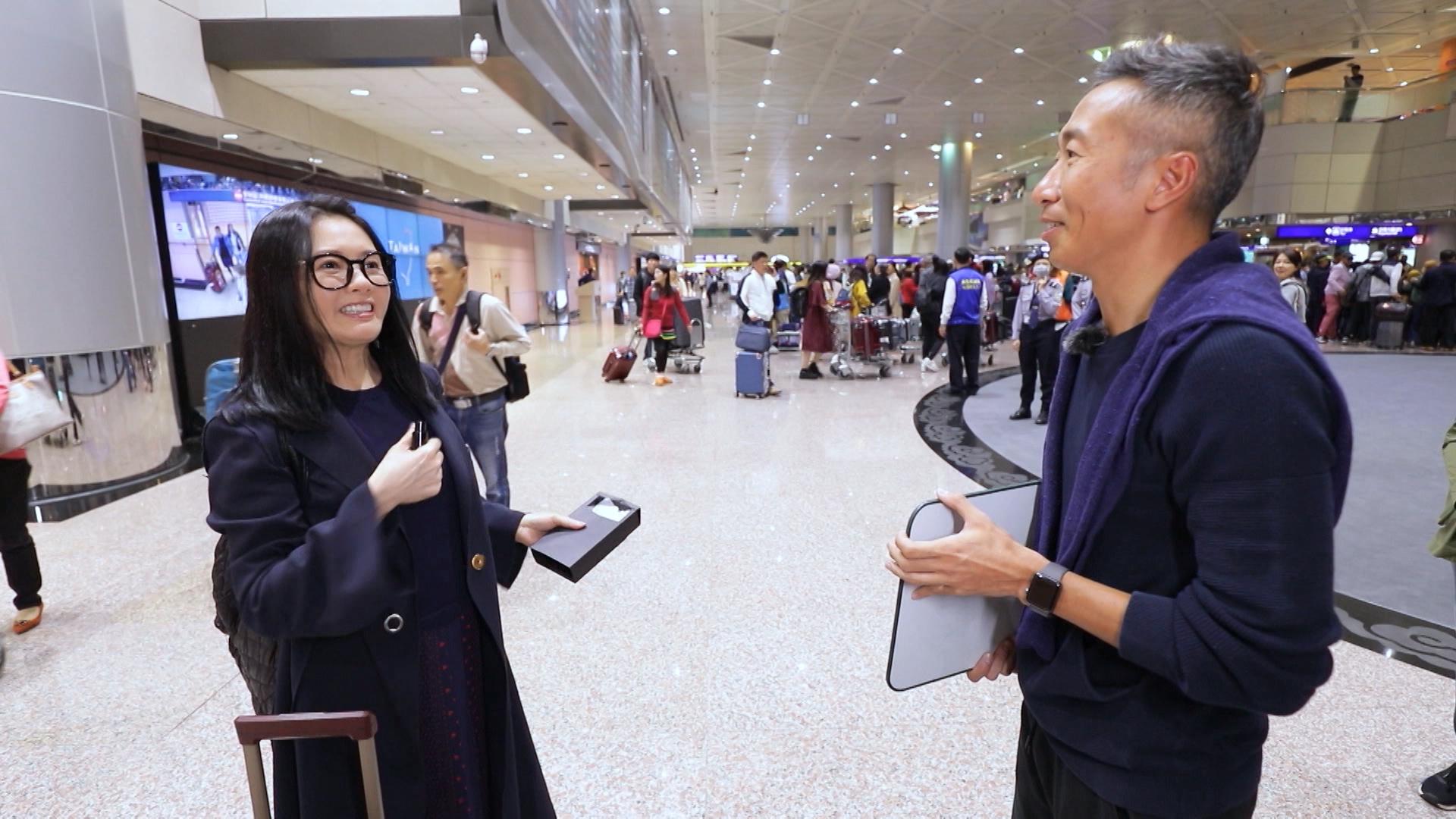 李麗珍與素人Benjamin前往台北