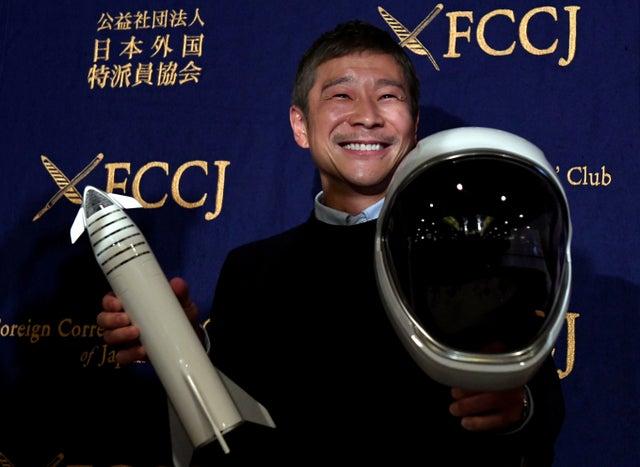 前澤友作(Yusaku Maezawa)將成為SpaceX首位太空旅行者