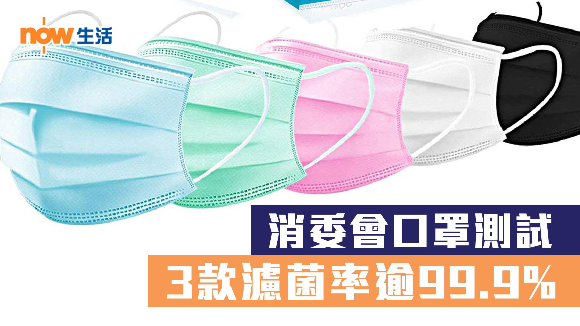 【武漢肺炎】消委會口罩測試 3款濾菌率逾99.9%