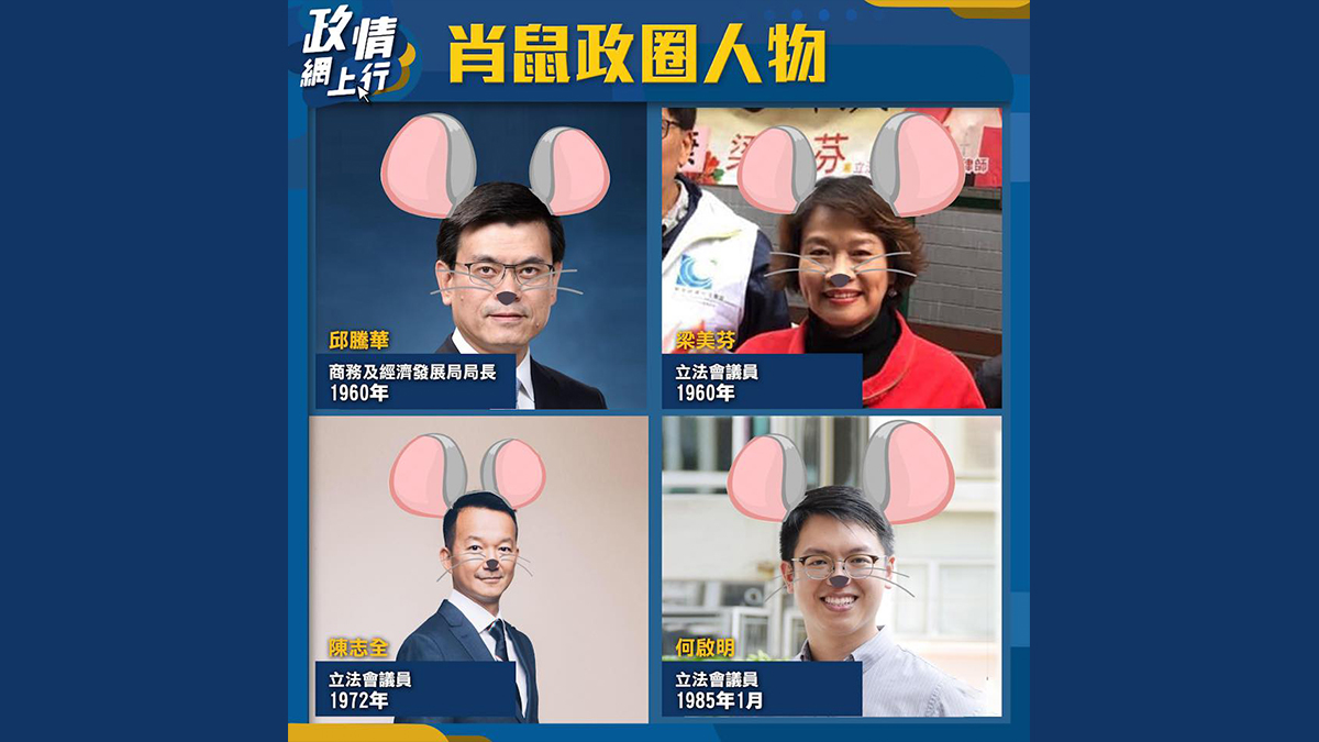 【政情網上行】肖鼠政圈人物
