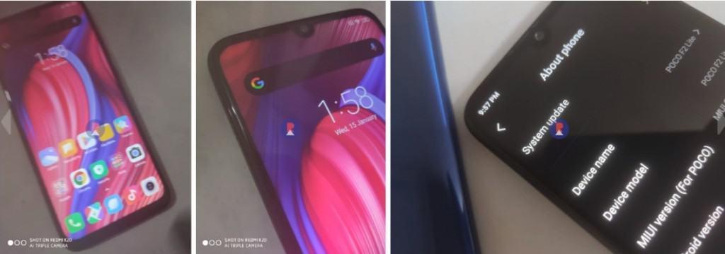 採用水滴屏幕設計 PocoPhone F2 Lite 實機曝光!