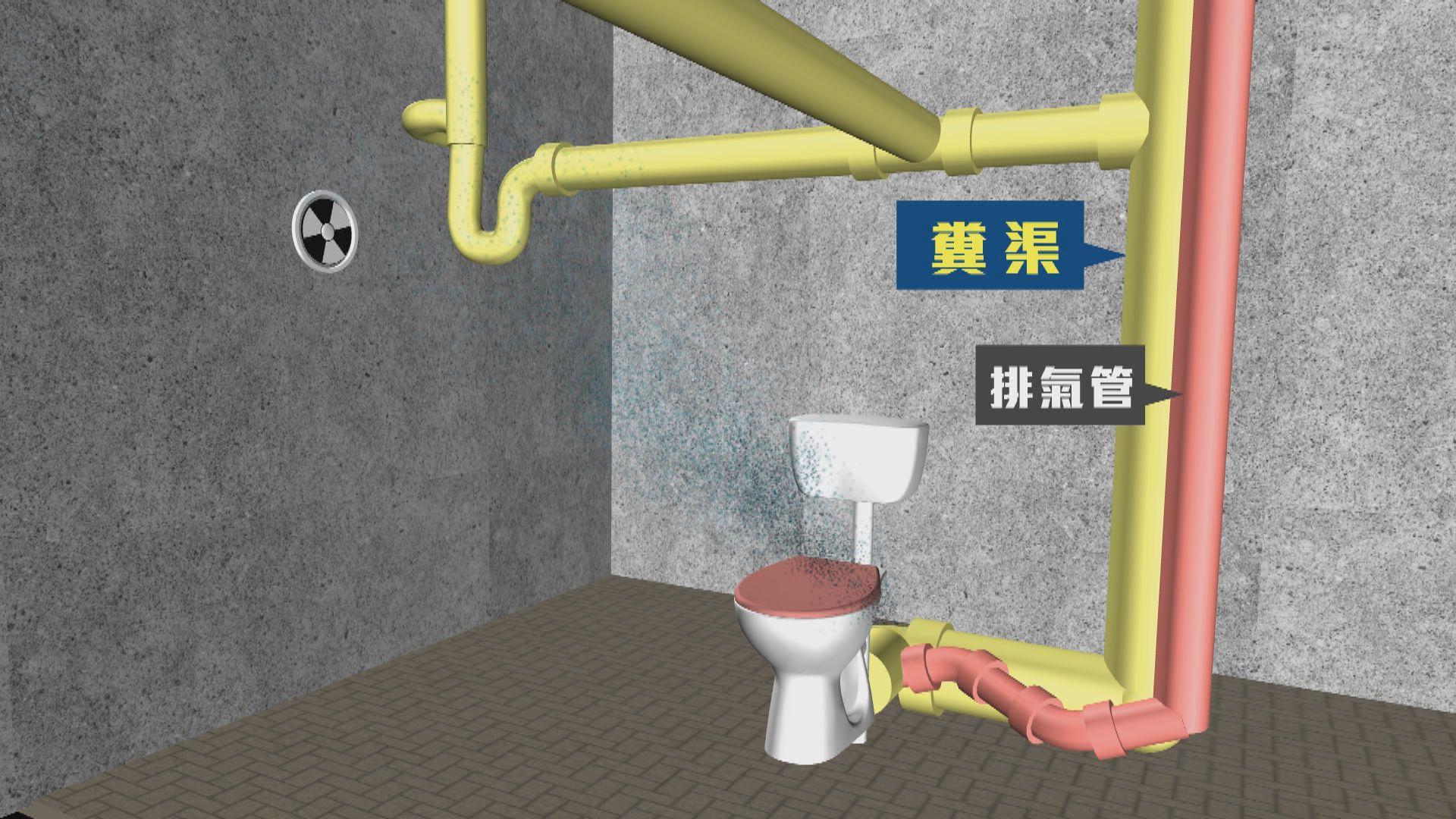 康美樓07室單位廁所內糞渠及排氣管外露