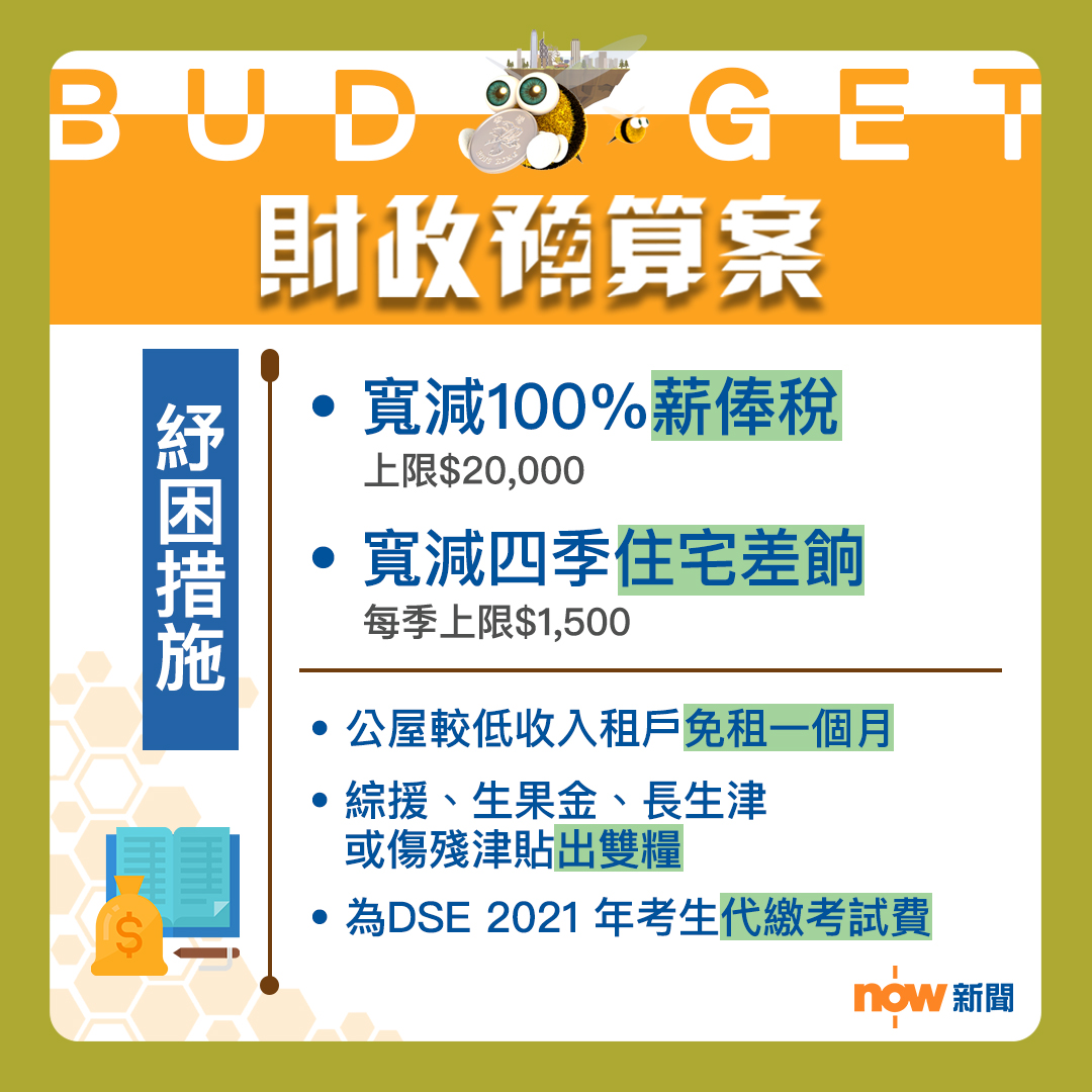 【一文睇晒】財政預算案懶人包
