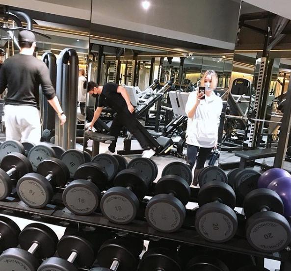 除了練舞還勤做Gym