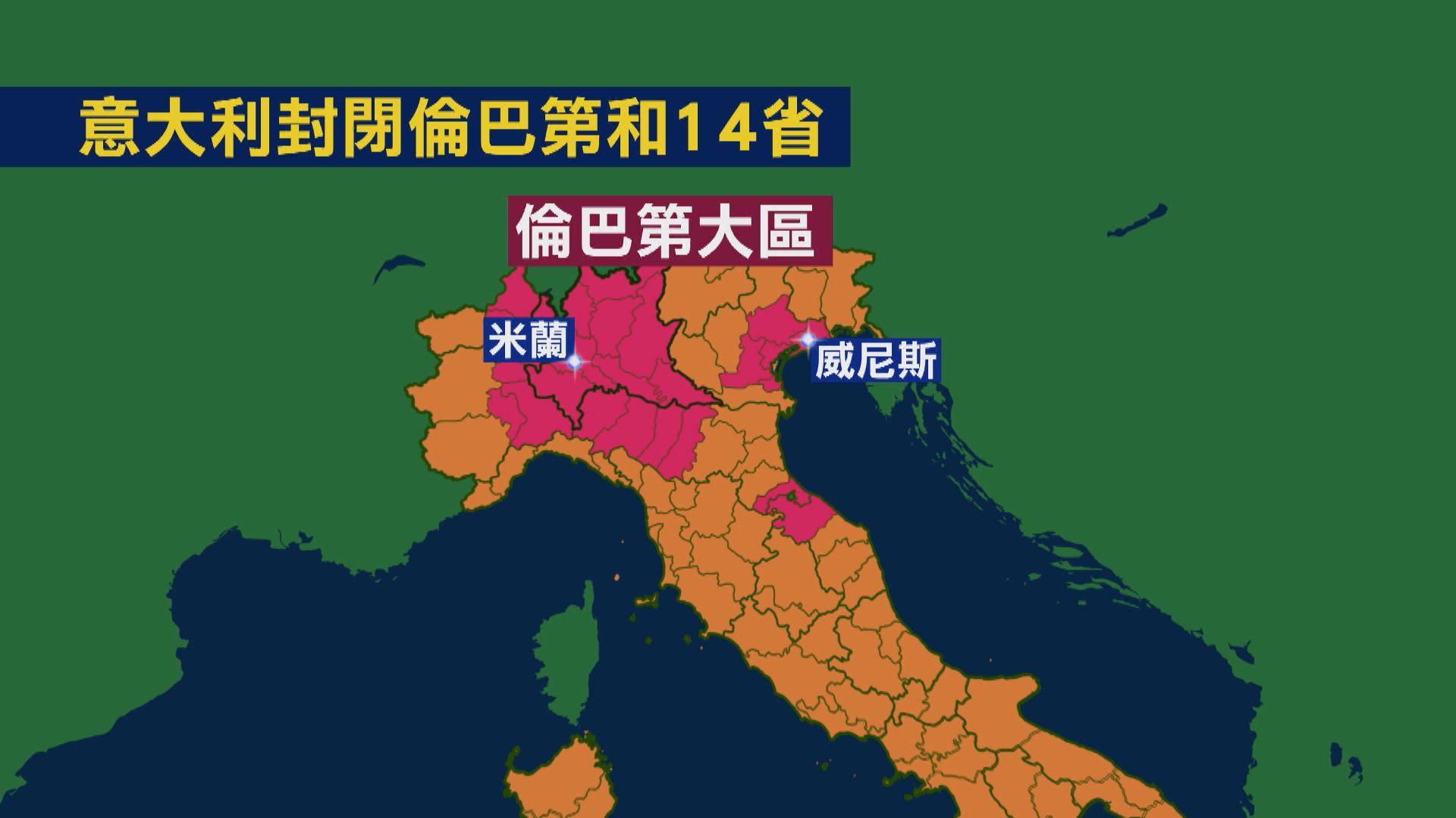 意大利封閉倫巴第及14個省份 涉全國約四分一人口
