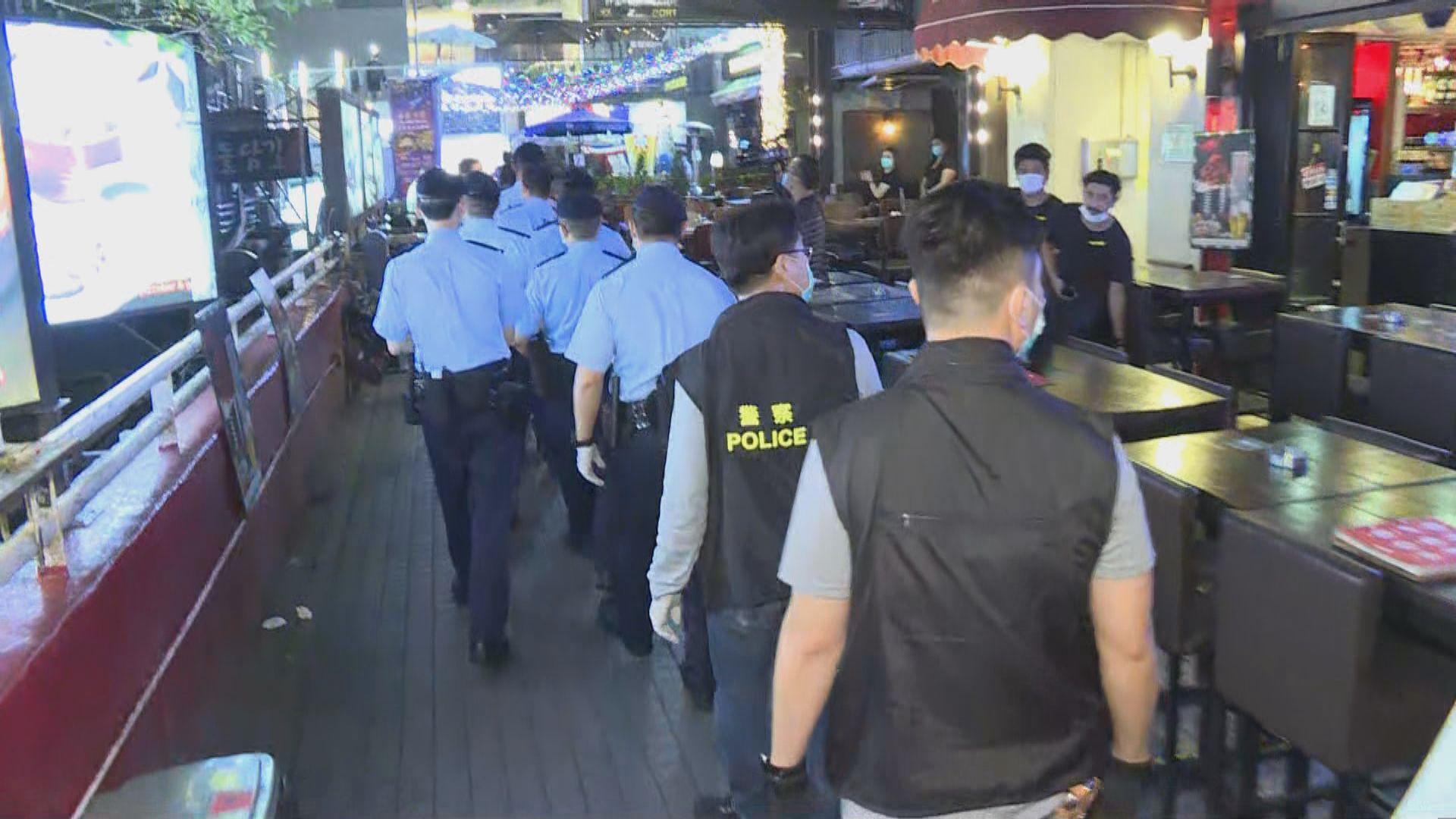 警方到尖沙咀巡視 有否違反強制檢疫令人士