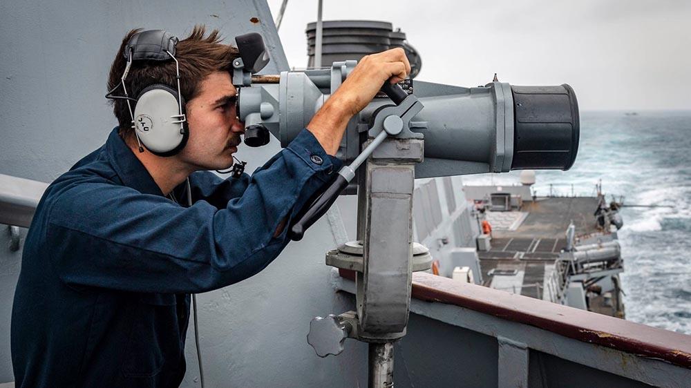 美軍導彈驅逐艦周三駛經台灣海峽