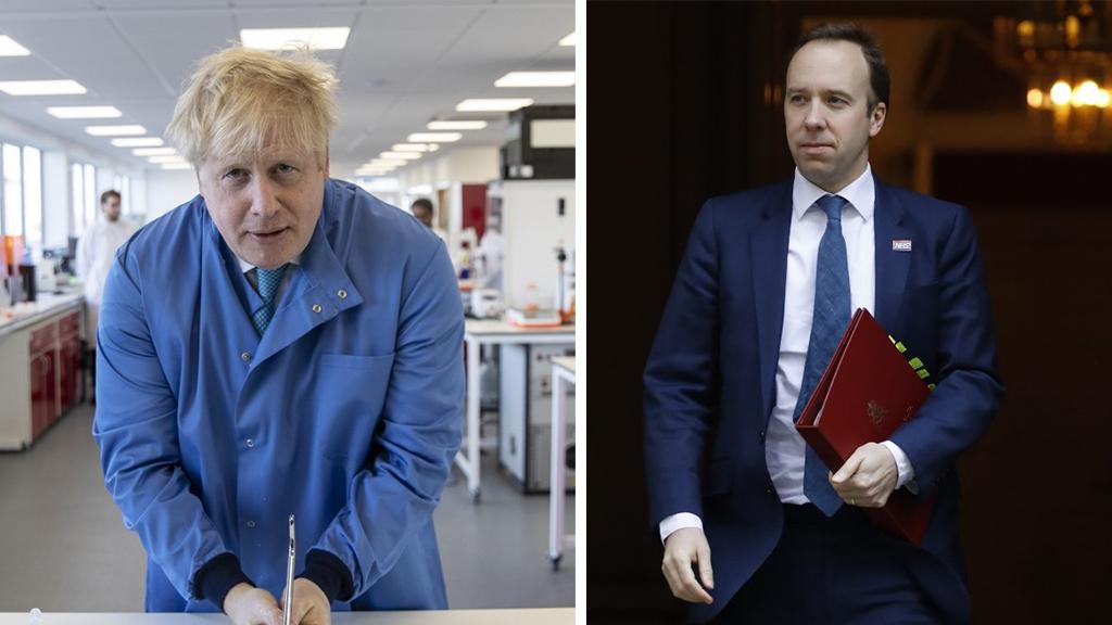 英國首相約翰遜和衞生大臣夏國賢確診