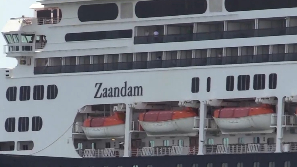 再有郵輪乘客確診感染 遭多國拒絕泊岸