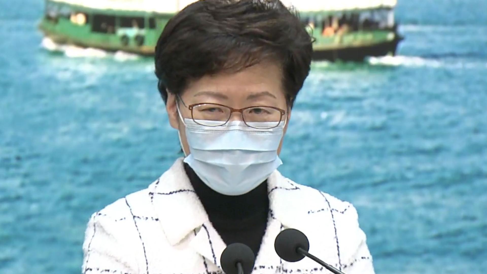 林鄭︰滿意防疫新例執行情況 籲市民自律不排除即時罰款