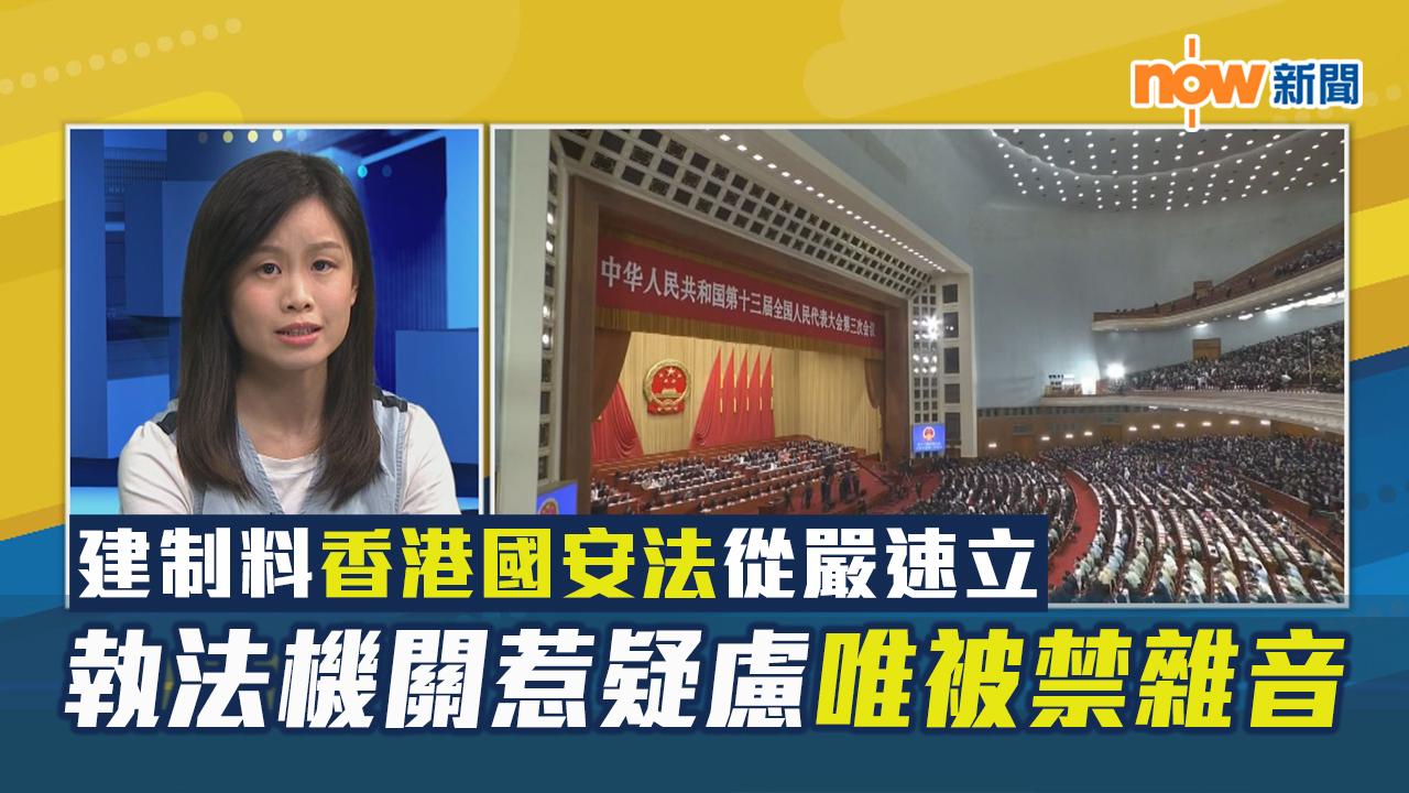 【政情】建制料香港國安法從嚴速立 執法機關惹疑慮唯被禁雜音