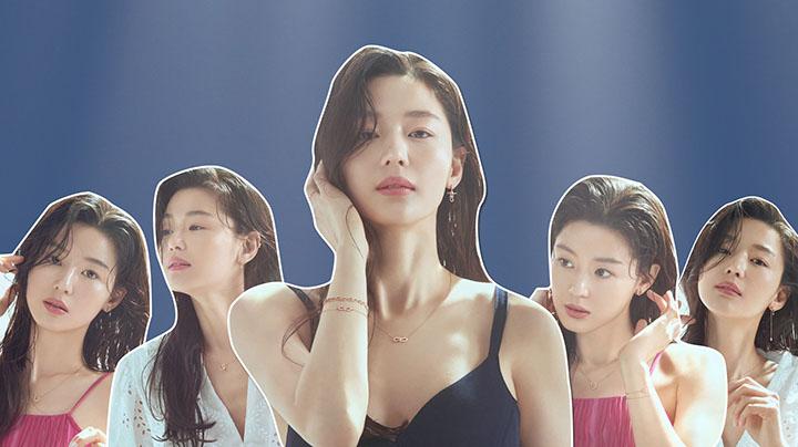 38歲全智賢吊帶背心拍新廣告  網民:少女一樣