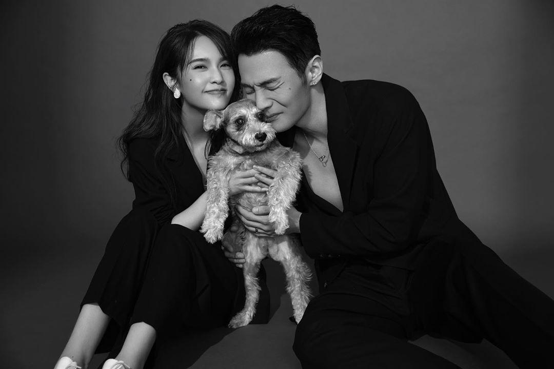 二人和愛犬Yumi合照
