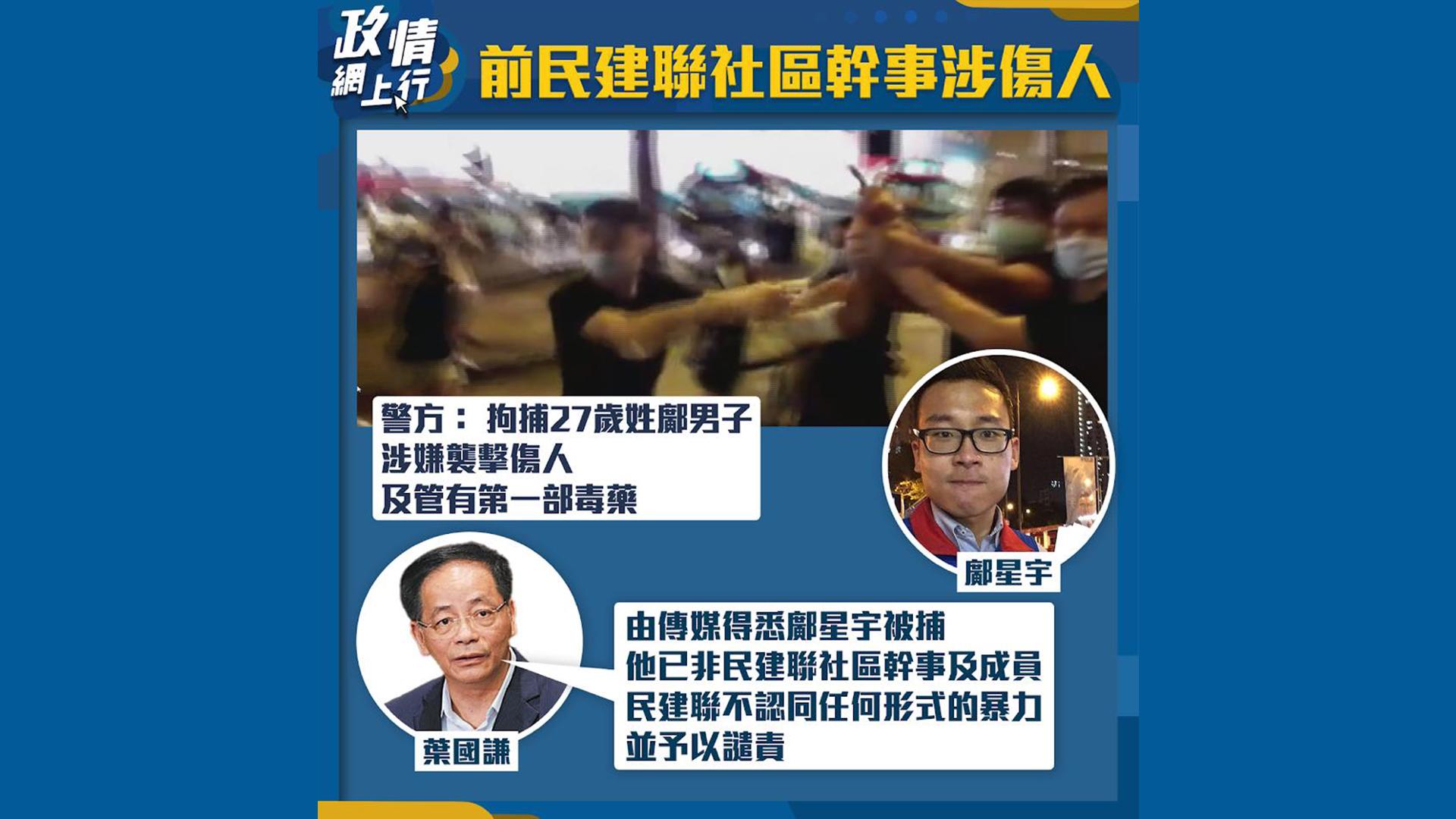 【政情網上行】前民建聯社區幹事涉傷人