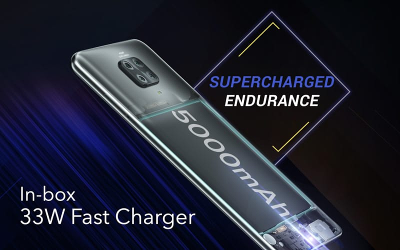 ▲ 5000mAh 電池及隨機配置 33W 快充