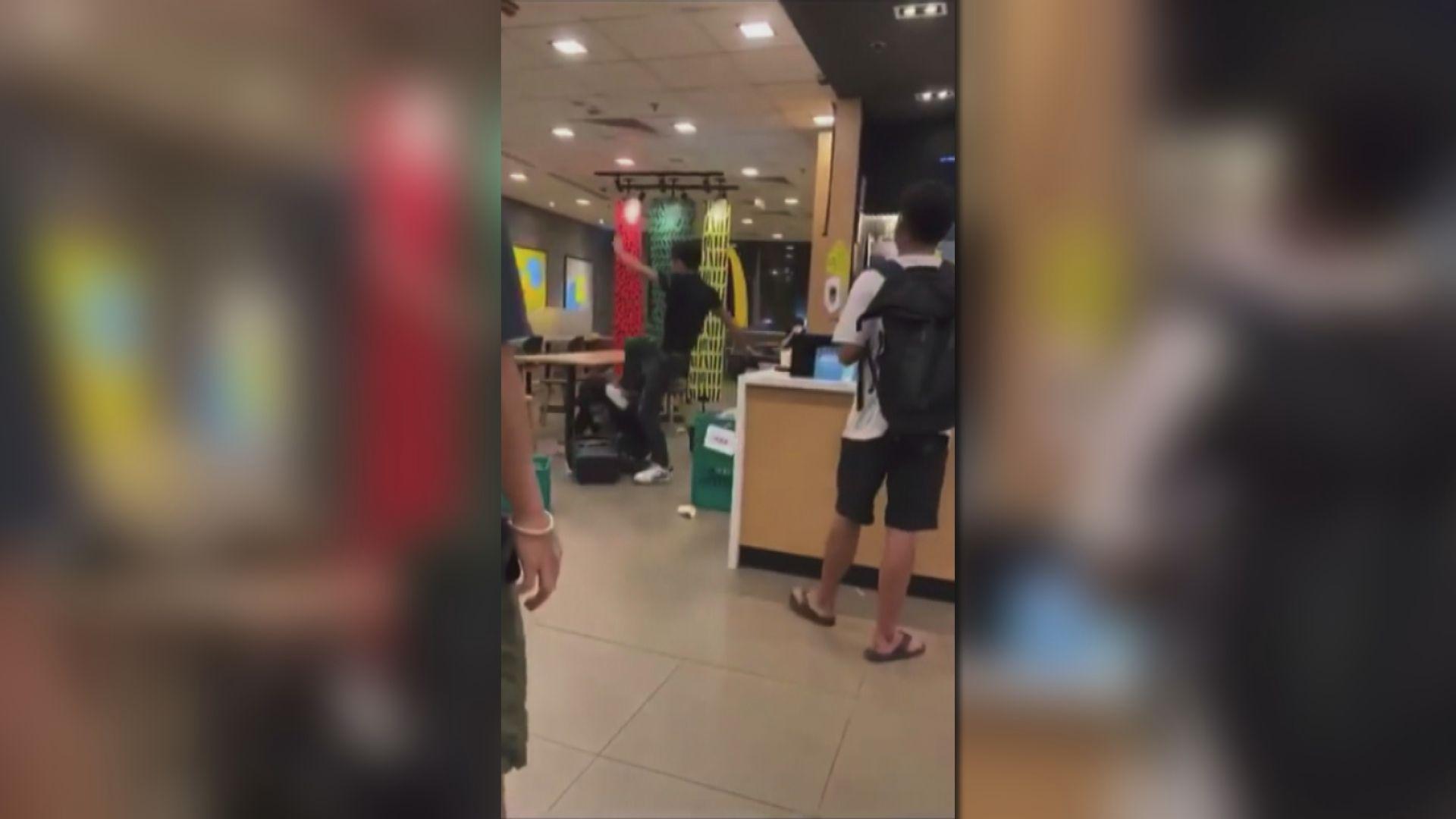 屯門麥當勞拒戴口罩者傷人 警拘三人