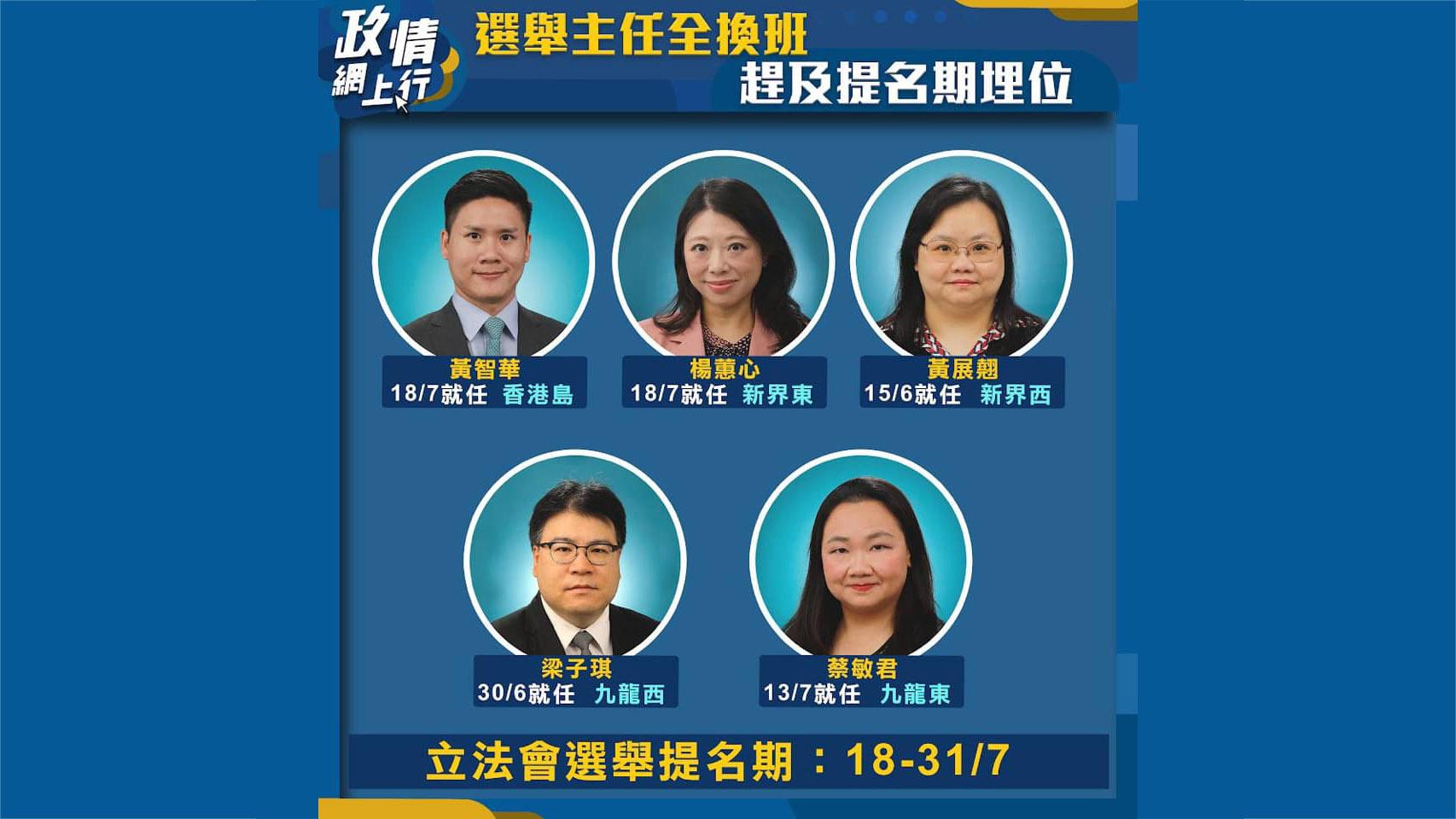 【政情網上行】選舉主任全換班 趕及提名期埋位