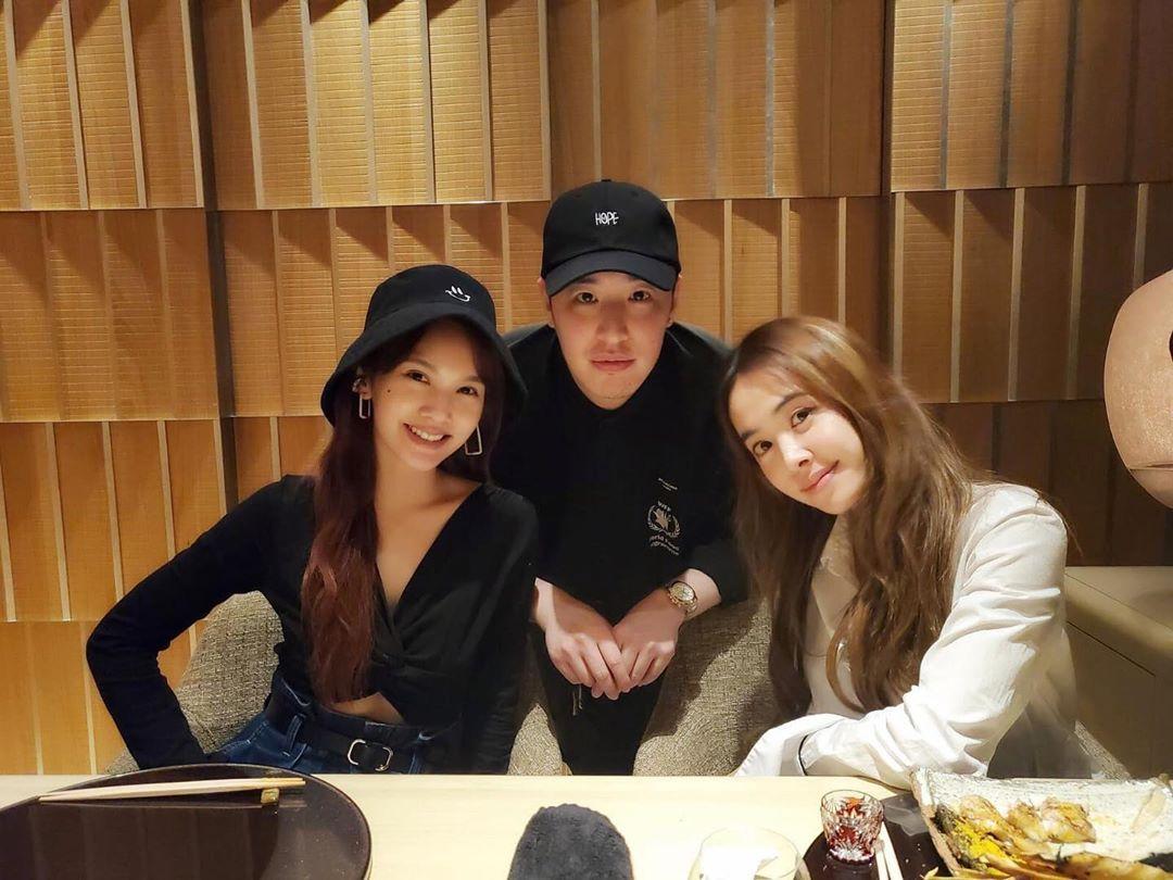 潘瑋柏與楊丞琳(左)、蔡依林(右)均屬好友