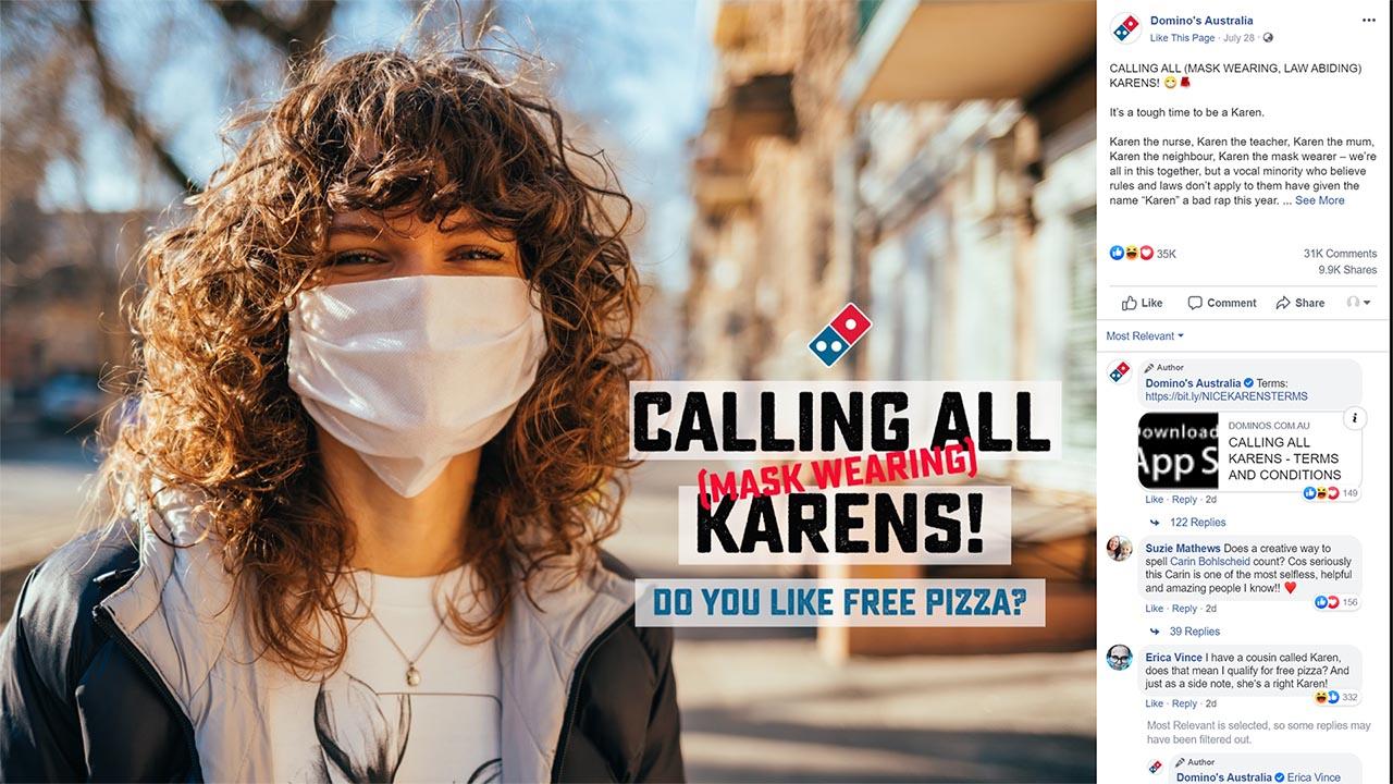 薄餅店藉「Karen」名字宣傳惹批評