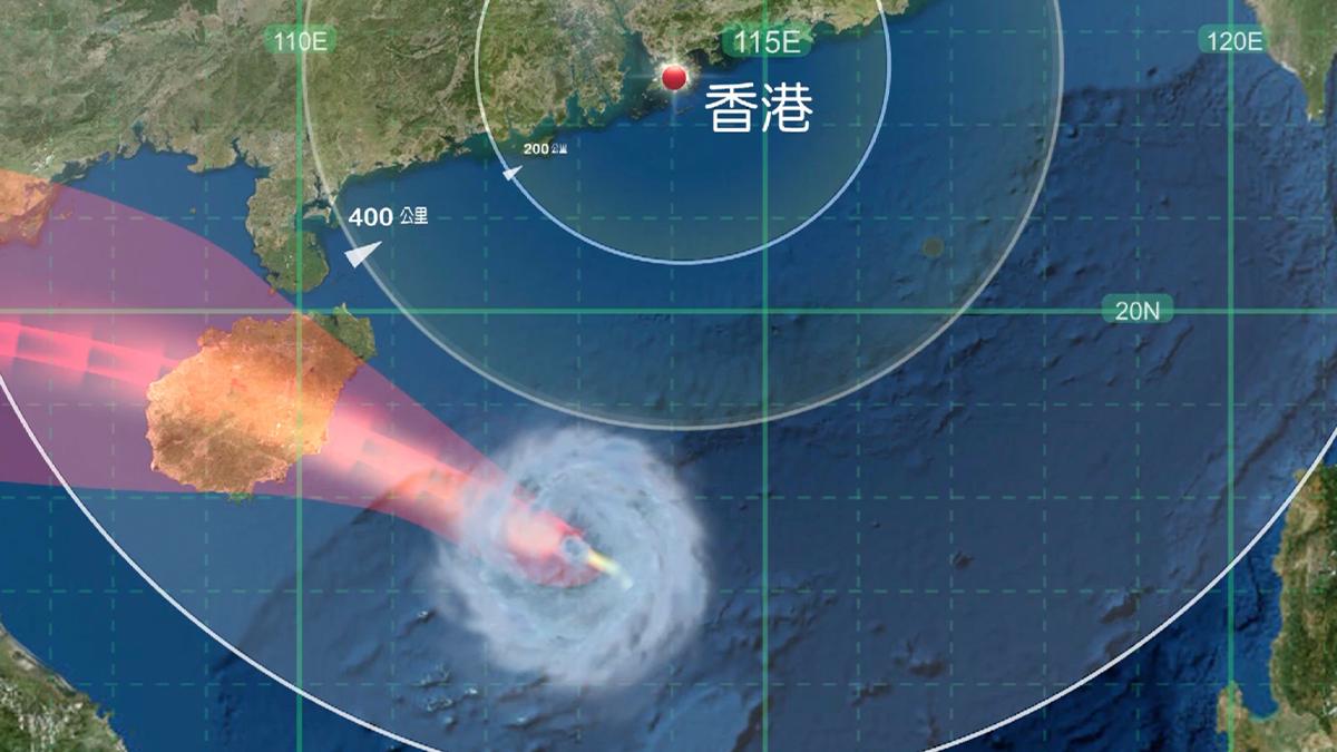 三號強風信號生效 熱帶低氣壓料在港500公里外掠過