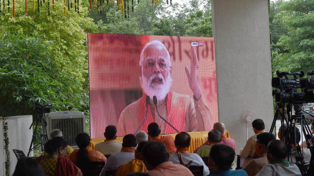 印度總理莫迪出席羅摩神廟奠基儀式