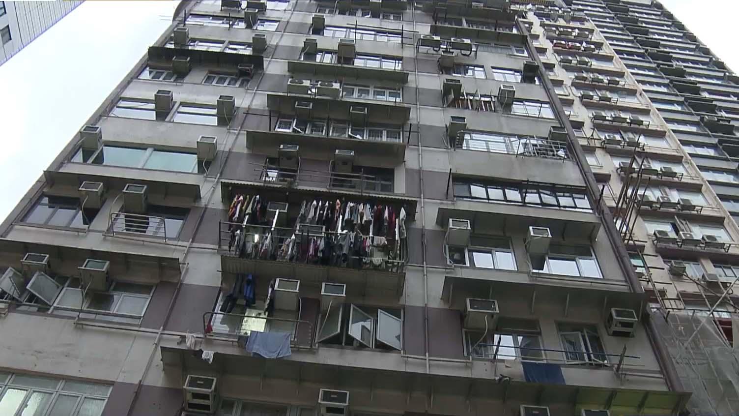 確診外傭宿舍所在大廈 居民指衞生情況欠佳