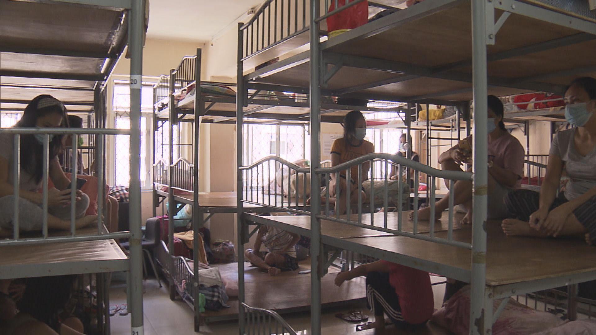 外傭宿舍人多擠迫 有中介公司加強防疫措施