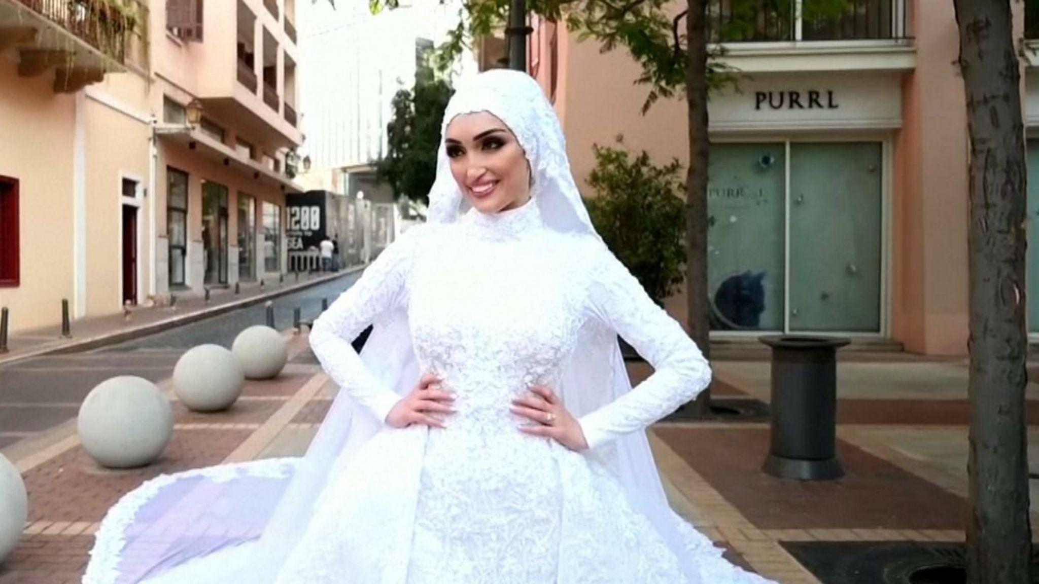 貝魯特新娘拍婚照意外記錄爆炸一刻