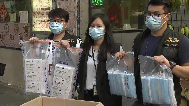 警方拘五人 涉及上月沙田口罩失竊案